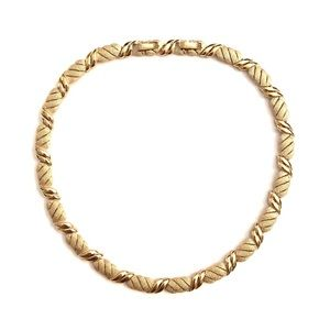 Vintage Trifari Florentine Choker Collar Necklace